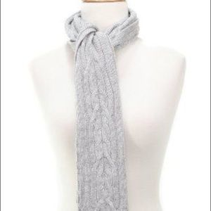 100% Cashmere Charter Club Cable Knit Scarf Gray